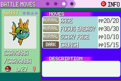 Pokemon Emerald - Character Profile  - shiny !! - User Screenshot